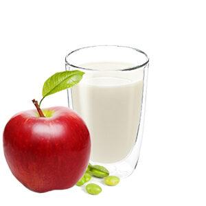 Bebida de soja con manzana