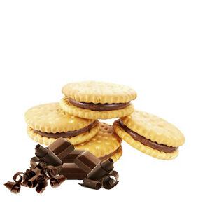 Galletas rellenas de chocolate de comercio justo