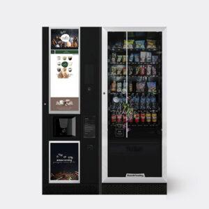 Máquina de bebidas calientes y snacks combinada