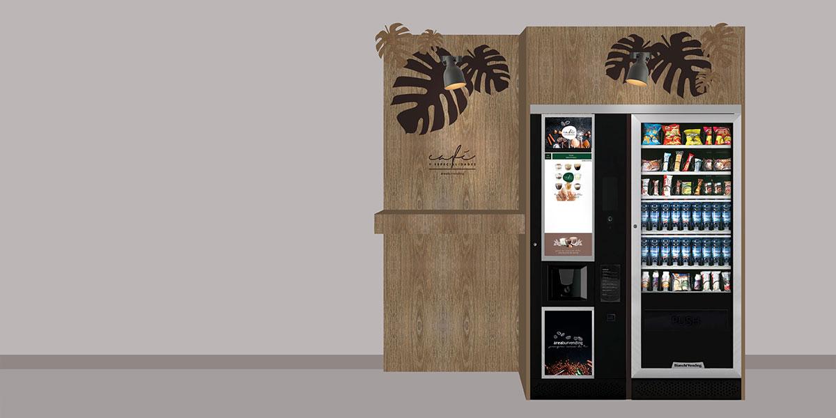Máquinas expendedoras de café y refrescos a medida