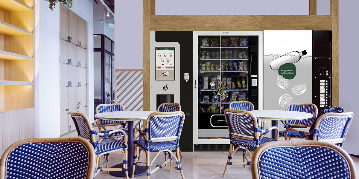 Vending saludable en coffee corners en hoteles