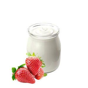 Yogur de fresa sin gluten